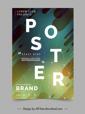 geometric poster template colorful modern dynamic design