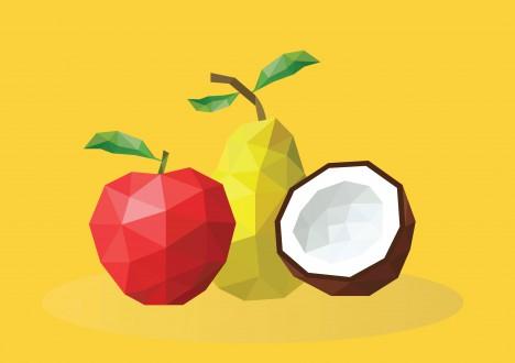 geometry style fruite