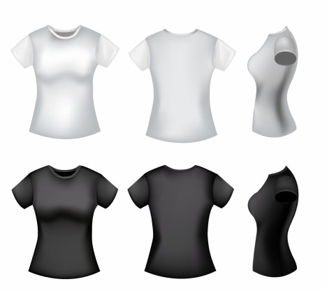 Women polo shirt template vectors stock for free download about 3 girl t shirt pronofoot35fo Images