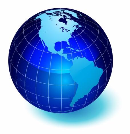 Globe of the World. America