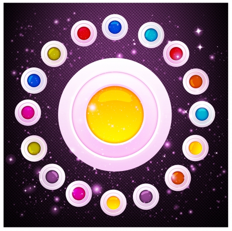 glossy orb circle