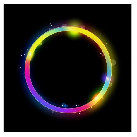 Glowing circle vector