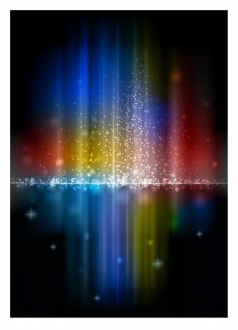 Glowing Rainbow Aurora with Sparkles