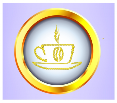 golden coffee cup symbol