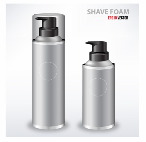 Gray Shave Foam Spray