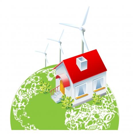 green eco energy earth concept