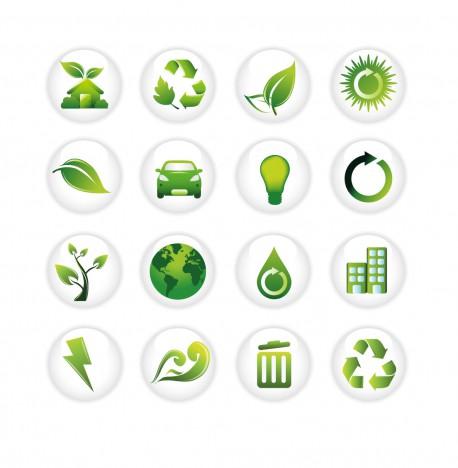 Green  on White circle icons