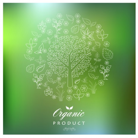 green organic tree product concept