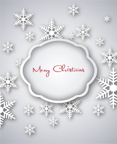grey christmas background with snowflakes texture