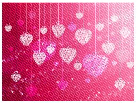 hand draw heart background
