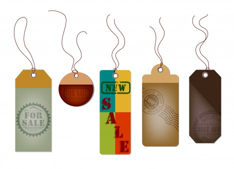 hang sale tags collection