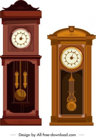 hanging clock icon elegant classical decor