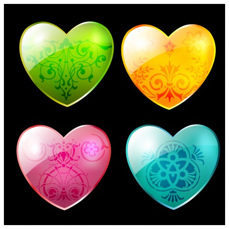 heart shape decor swirl
