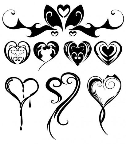Heart Shaped Tattoos