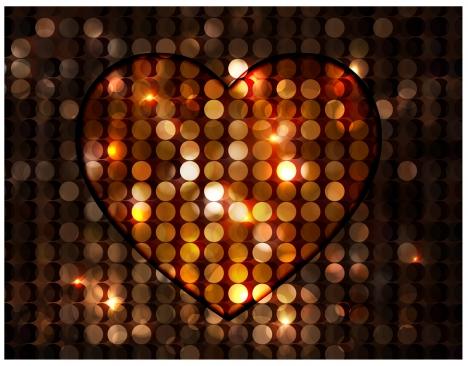 heart template design on bokeh background