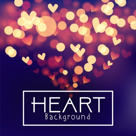 hearts background sparkling bokeh design