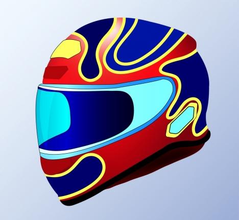 helmet icon design 3d colorful decoration