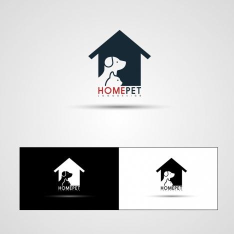 home pet logotypes dog cat icons decoration
