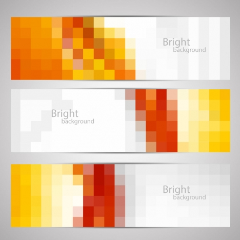 horizontal banner sets illustration vector with blurred template