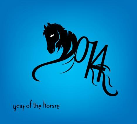 Horse 2014 year chinese symbol