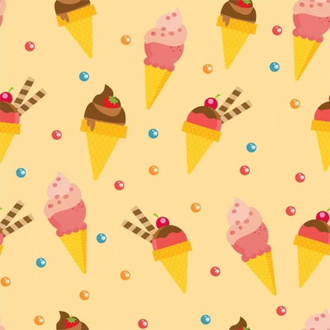 ice cream background colorful repeating decoration