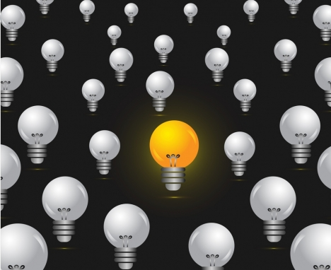 idea concept background lighted bulb decoration repeating style