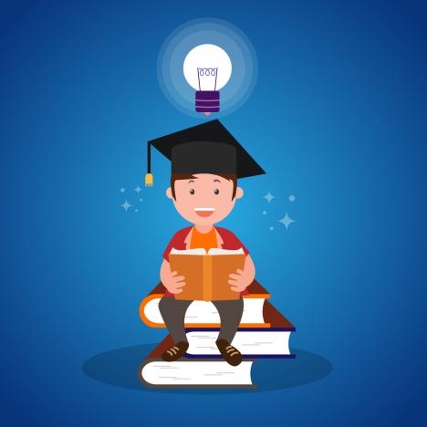 idea concept banner human lightbulb and books decoration