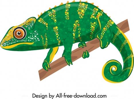 iguana icon green yellow sketch