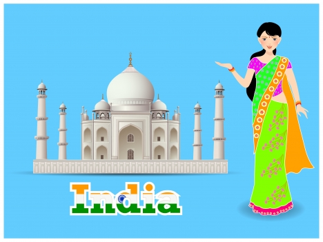 indian girl and castle culture
