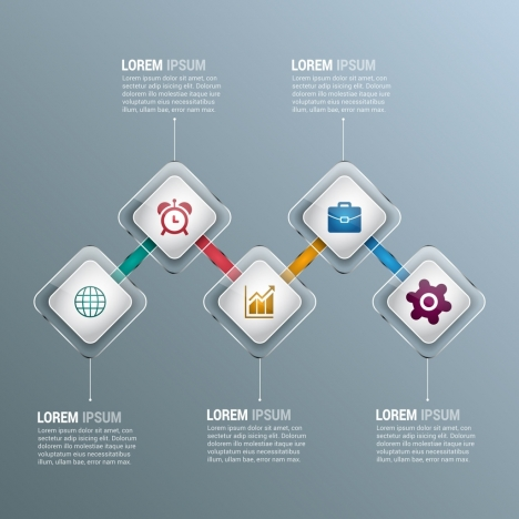 infographic design elements modern shiny transparent geometries style