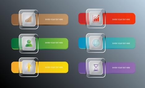 infographic design elements shiny multicolors geometric decor
