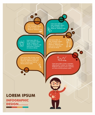 infographic design with human and speech baubles