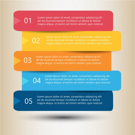 infographic diagram with horizontal label tags design