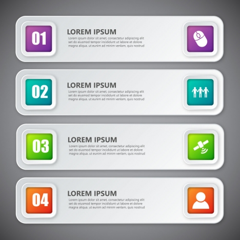 infographic vector design with horizontal banners