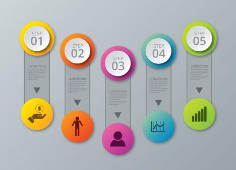 Infographic vector design with vertical diagram vectors stock in ...