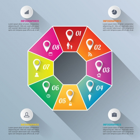 infographic vector illustration with cycle diagrams