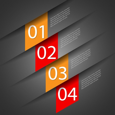 infographic vector illustration with dark background and numbers
