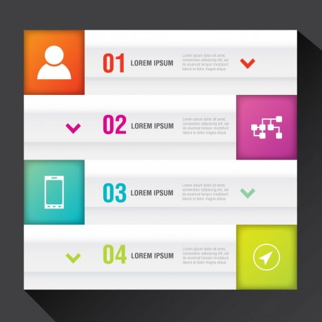 infographic vector illustration with user interfaces and ticks