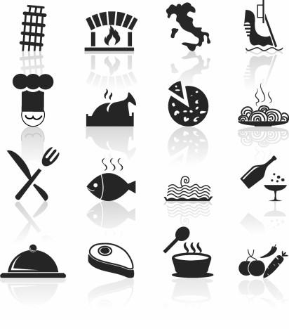 Italian Food and Restaurant icons