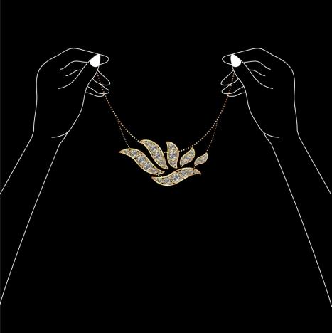 jewelry background dark design hand silhouettes ornament