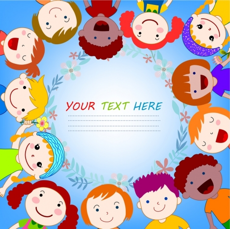 kids background circle layout colorful decoration