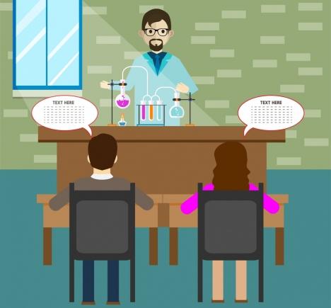 lab job theme design human with speech baubles