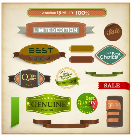label and banner collections