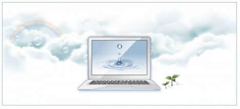 Laptop advertising banner