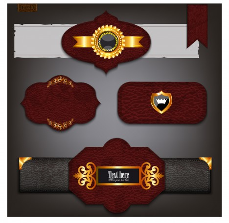 leather banner and ribbon set