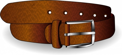 leather belt icon shiny brown design