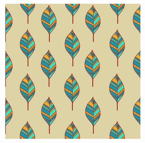 leaves pattern design in symmetric arrangement
