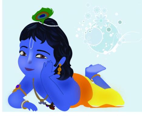 Little Krishna Vectors Stock In Format For Free Download 748 25kb