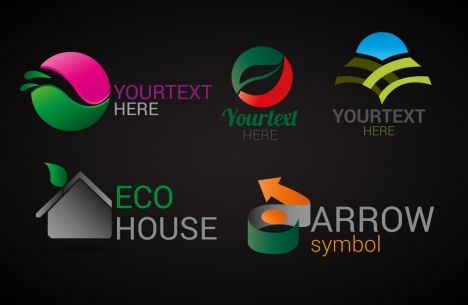 logo design elements illustration with abstract icons