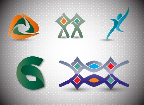 logo design elements illustration with abstract shapes